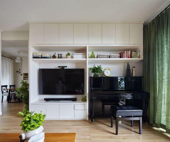 卡布奇诺87平米两室一厅田园风格装修案例参考