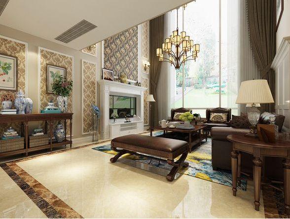 龙湖香醍国际社区245平米五居室简美风格设计方案效果图