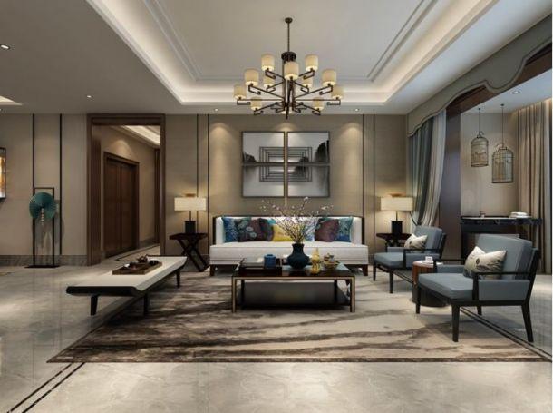 雅居乐御宾府245平米五居室中式风格设计方案效果图参考