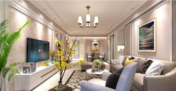 西北大家属院160平米四居室简欧风格设计方案效果图参考