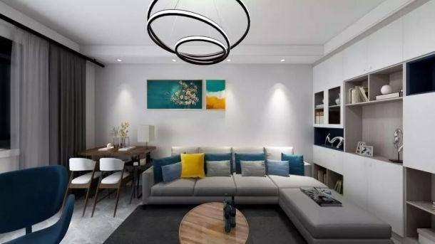 杨凌恒大城90平米三居室北欧风格设计方案效果图参考