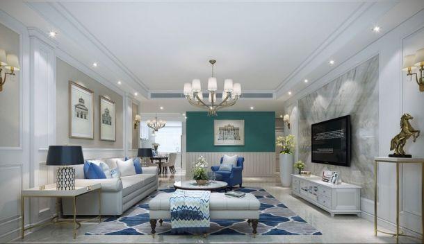 龙湖香醍141平米三居室简欧风格设计方案效果图参考