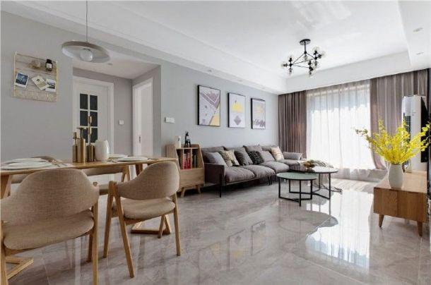 海伦国际90平米三居室北欧风格设计方案效果图参考