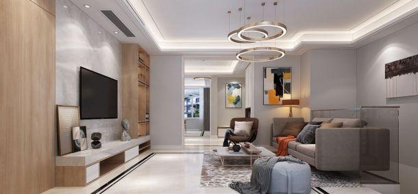 晶城秀府310平米复式现代简约风格设计方案效果图参考