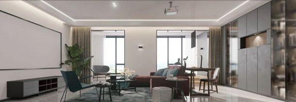 中航樾公馆290平米复式现代简约风格设计方案效果图参考