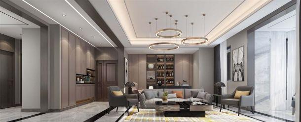 金地湖城大镜300平米别墅现代简约风格设计方案效果图参考