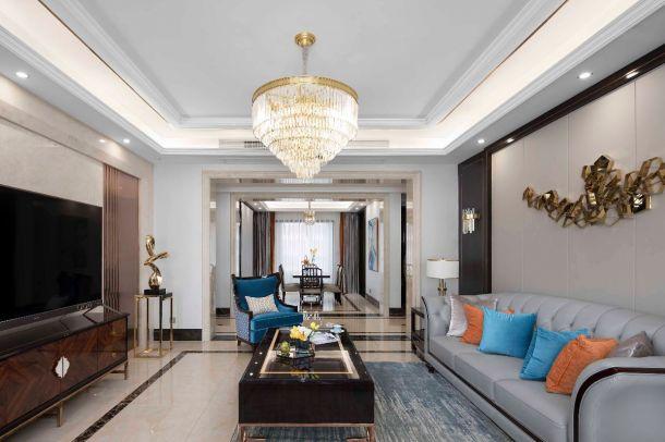 金辉世界城120平米三居室新古典风格设计方案效果图参考