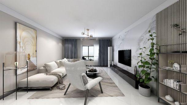 三联大厦148平老房翻新现代极简风装修案例参考