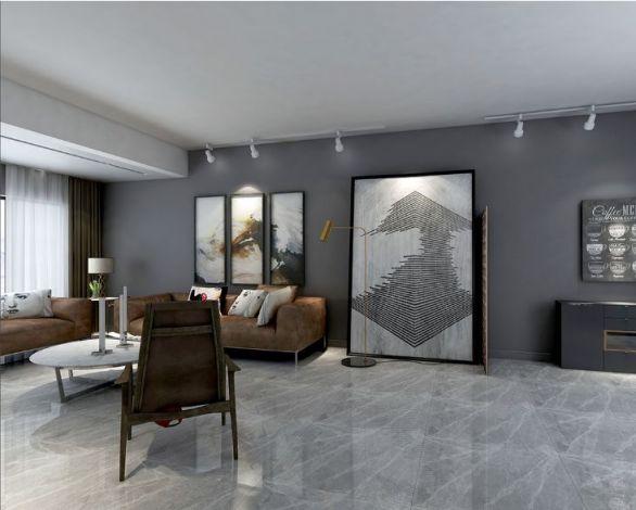 紫荆花园150平米三居室极简风格设计方案效果图参考