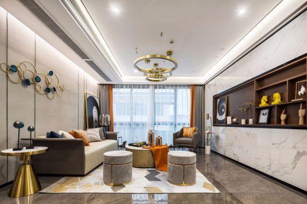 西安锦都146平四居室港式轻奢混搭风设计方案效果图参考