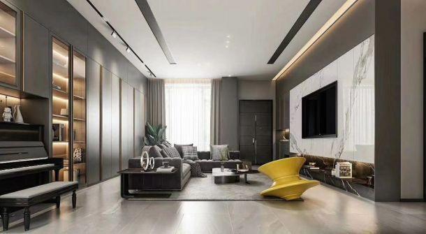 碧桂园凤凰城260平米复式现代简约风格设计方案效果图参考