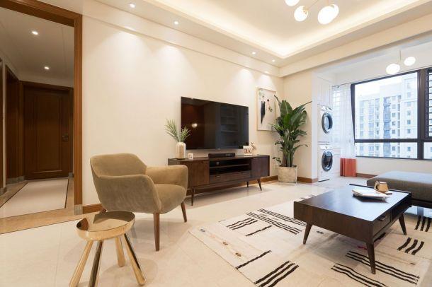 教师家属院105三居室轻奢风格设计方案效果图