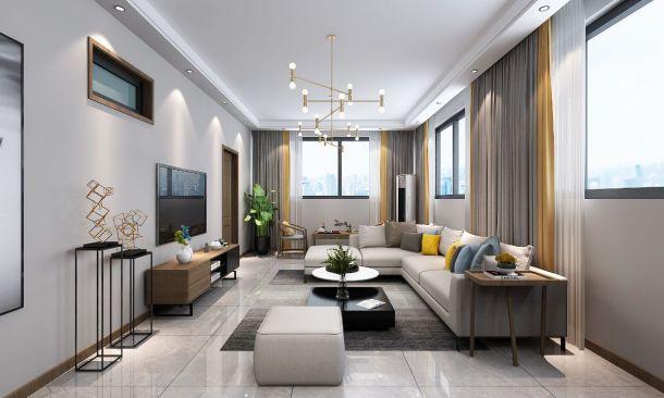 浪琴湾280平米复式现代简约风格设计方案效果图参考