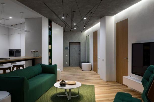 航天城120平米三居室工业风风格设计方案效果图参考