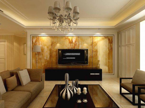 临潼瑞麟君府小区140平米简欧风格设计方案