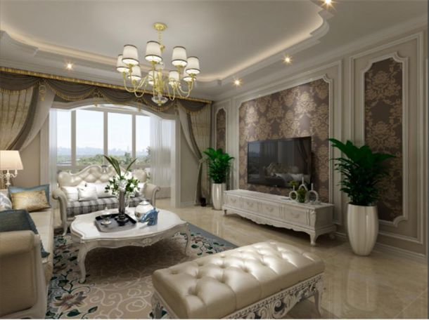 临潼上东城130平欧式风格设计方案