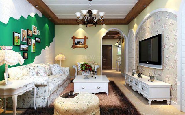 金科天籁城110平米田园风格设计方案