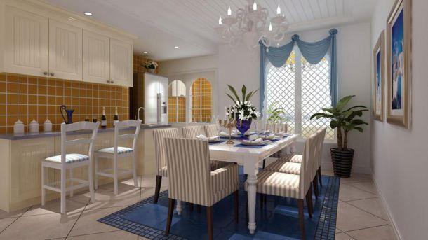 金科天籁城98平米地中海风格设计方案