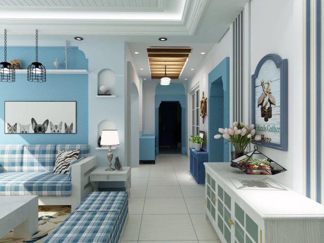 金科天籁城140平米地中海风格设计方案