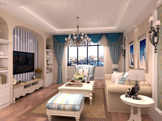 金科天籁城130地中海风格设计案例