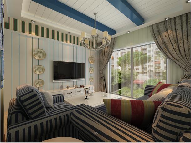西铁小区85平米地中海风格设计案例